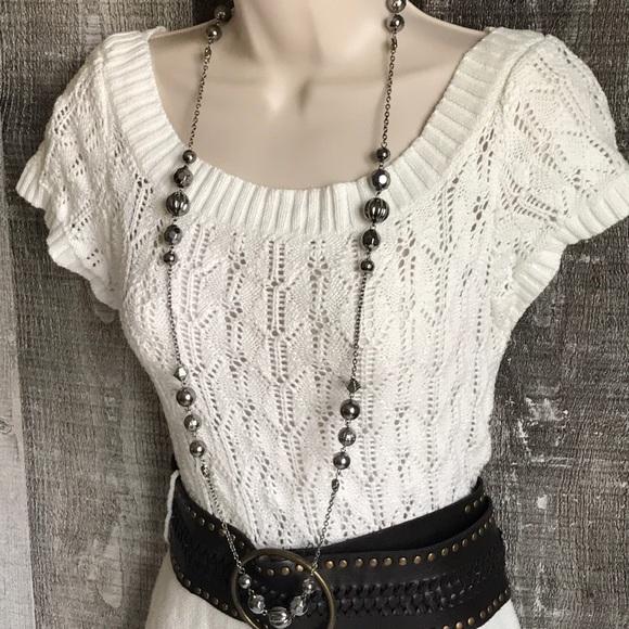 ad91035f1f1 Maurices White Knit Sweater Dress. EUC. M 5b3a57dbde6f62b27c58e191